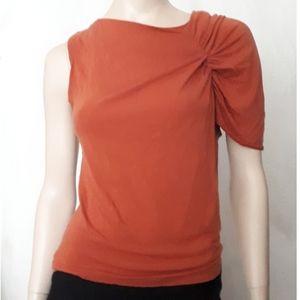 NWOT - Gathered Asymmetrical One-Sleeve Top